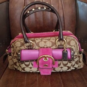 RARE Coach limited edition studded satchel bag